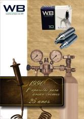 Folder comemorativo - 25 anos de WB Industria de Gas